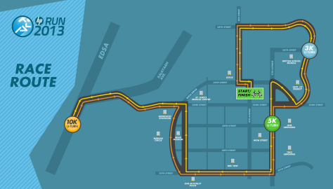 hp run 2013 race map