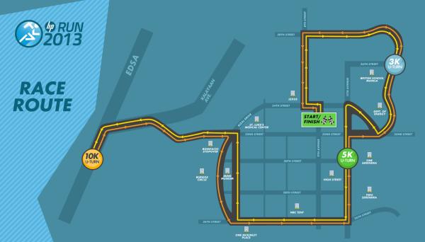 hp run 2013 race map