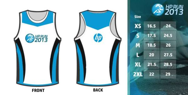 hp run 2013 singlet design and size chart