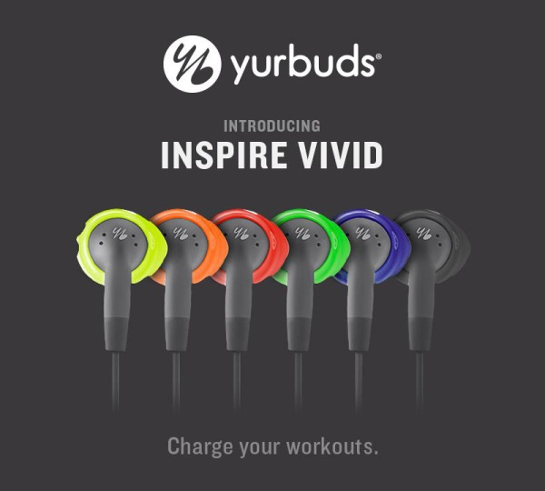 The yurbuds Inspire Vivid Line is available in six fun, vibrant colors that are guaranteed to stay in the ears through countless workout sessions